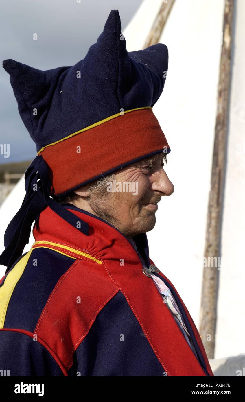 Sami Culture Laplander Norway  - Stock Image