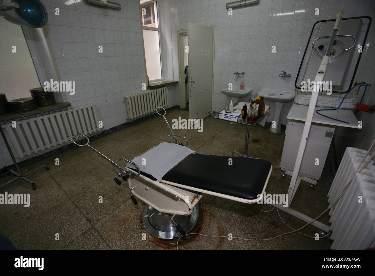 hospital in Lom, bulgaria. delivery room - Stock Image