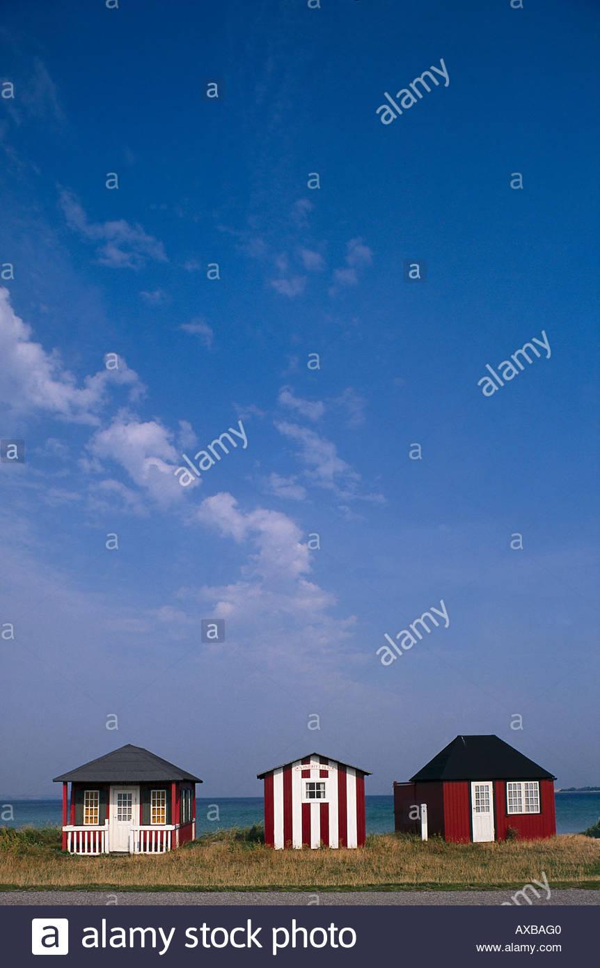 Little framehouses, Aero Denmark - Stock Image
