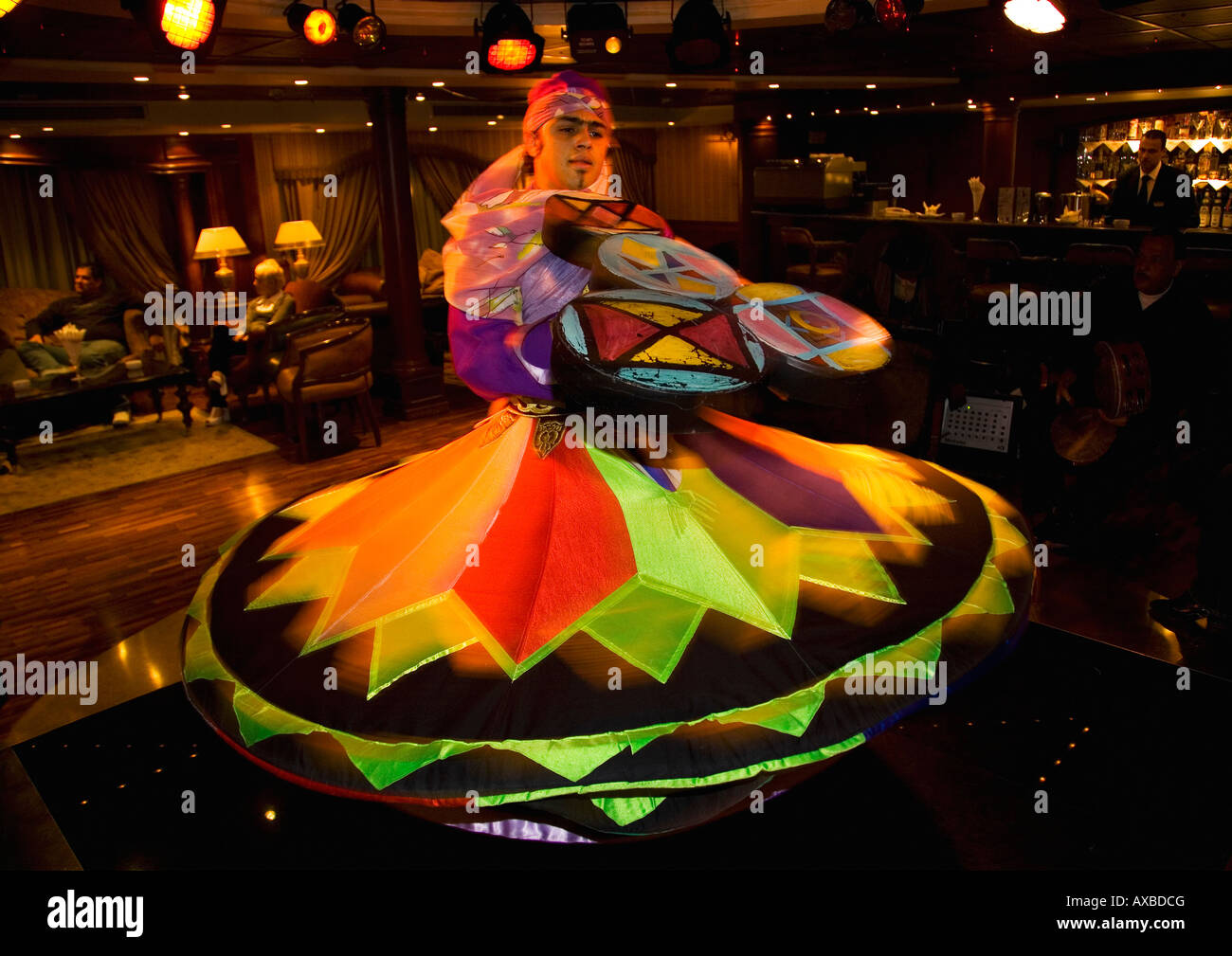 Whirling dervish performing - Stock Image