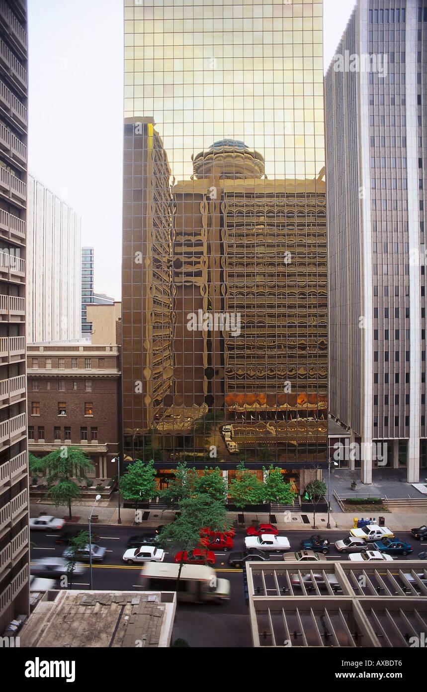 Peachtree Street, Downtown, Atlanta, Georgia, USA - Stock Image