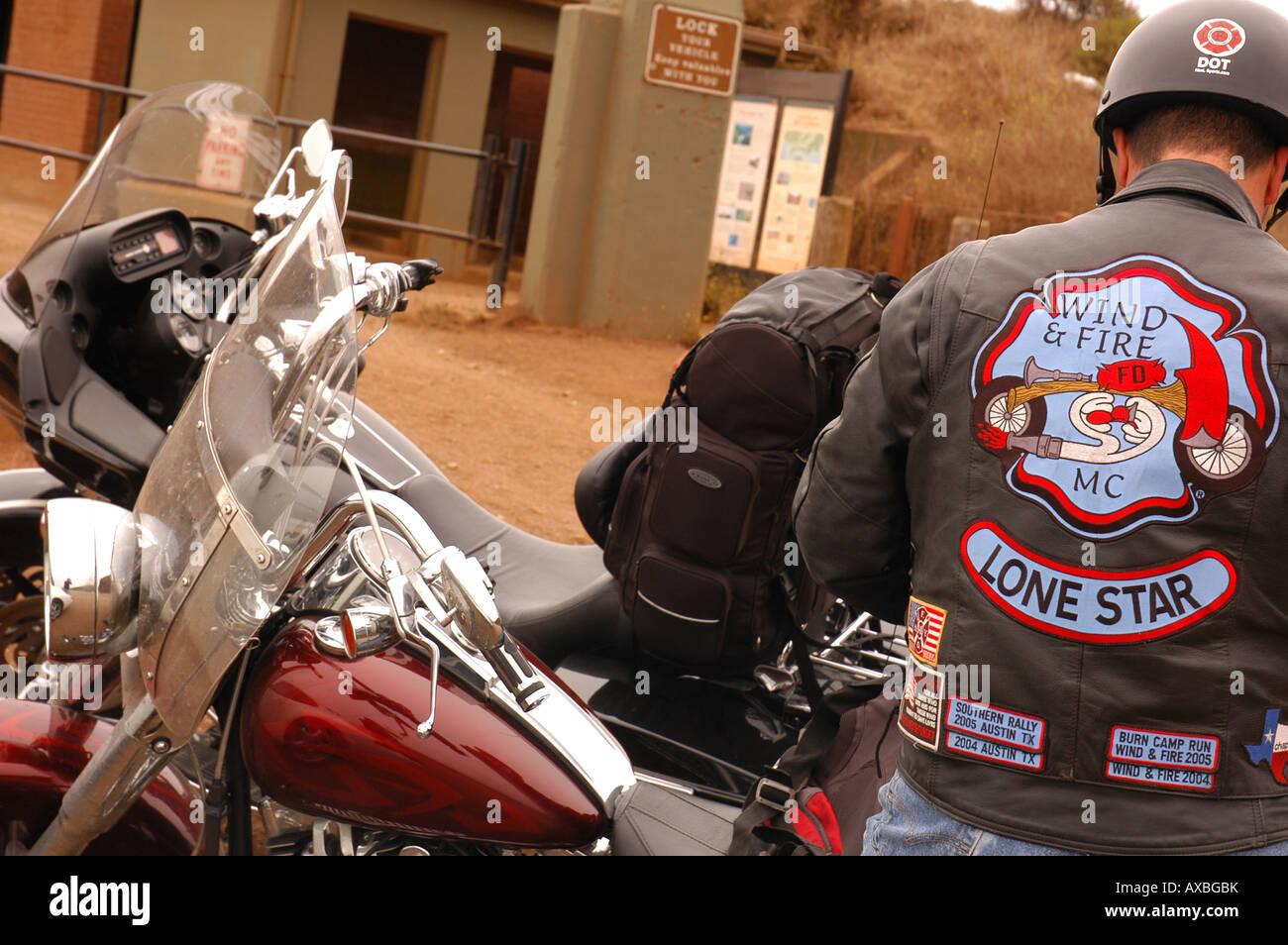 Motorcyclist in San Francisco bay area San Francisco USA Stock Photo