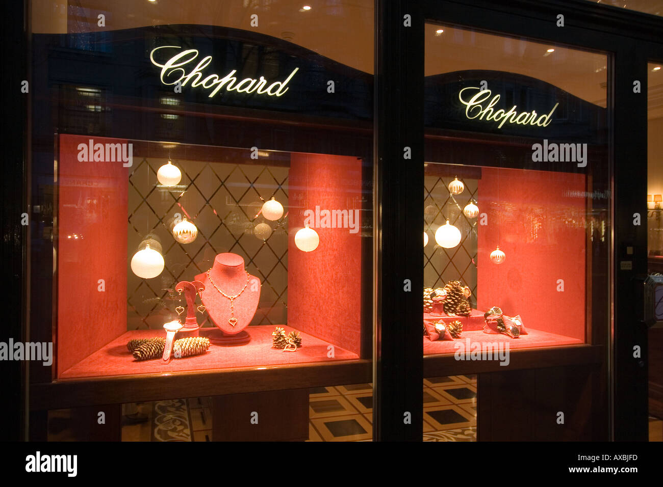 Switzerland Zurich Bahnhofstrasse Chopard jewelry shop window - Stock Image