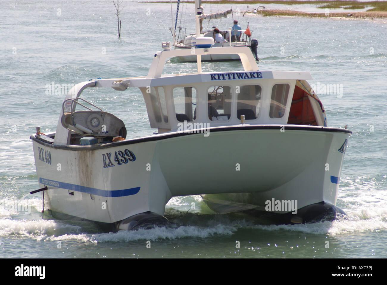 Catamaran Cabin Cruiser Fishing Boat Twin Hull River