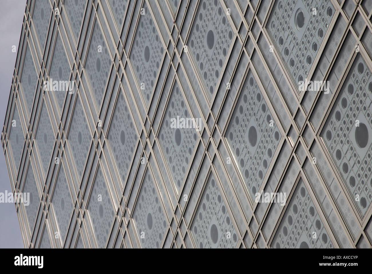 Institut du Monde Arabe, Institute of the Arab World, Paris, France - Stock Image
