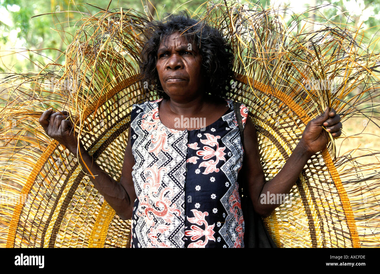 aboriginal woman artist judy baypungnalala with