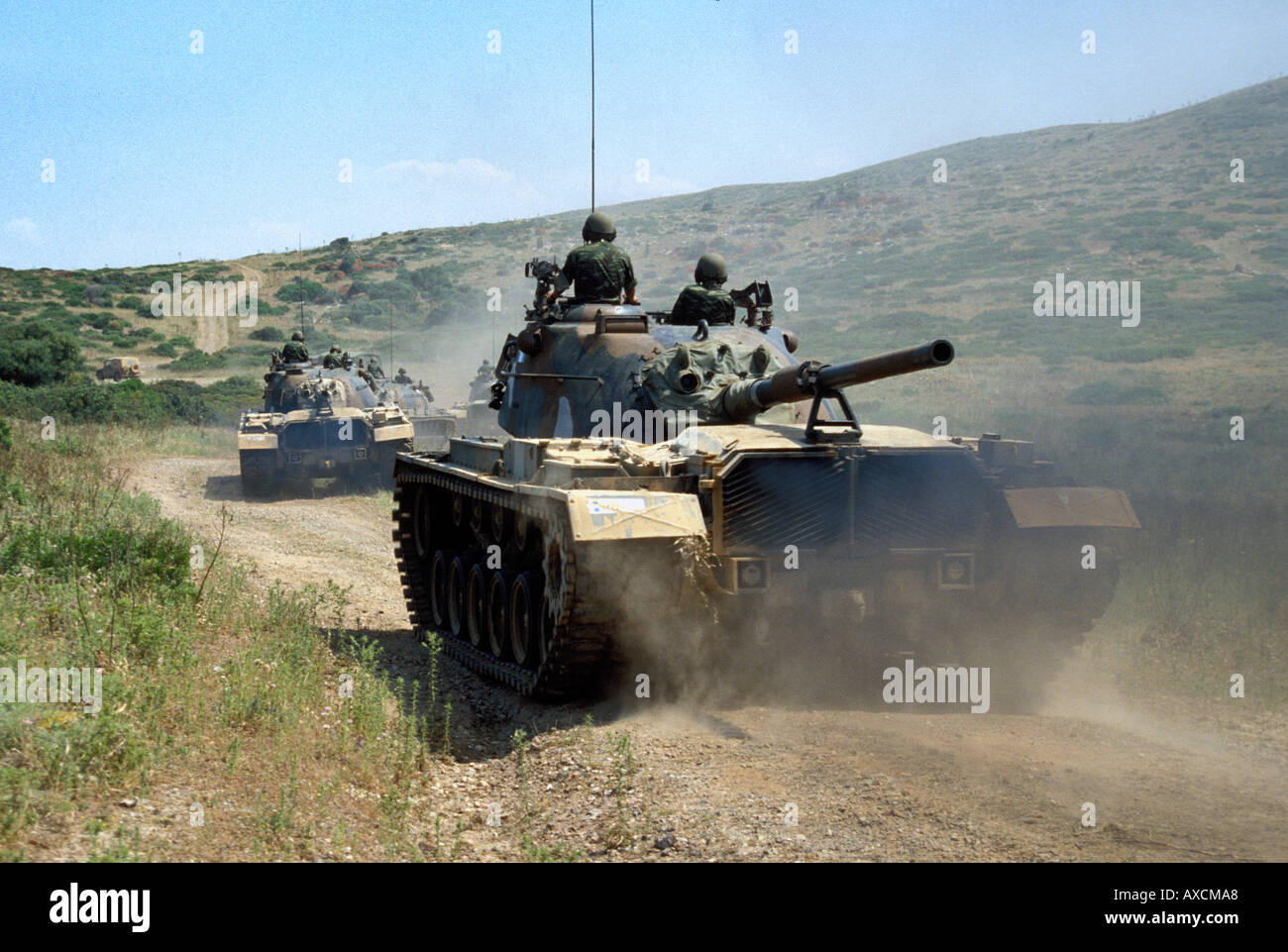 Greek Army Tanks - Stock Image