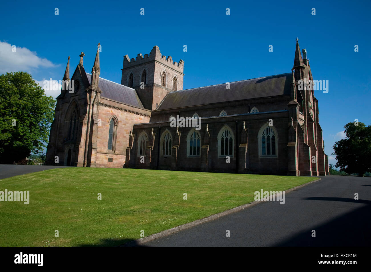 The 19th Century, St Patrick's Church of Ireland (CI) Cathedral is the seat of the Archbishop of Armagh in the - Stock Image