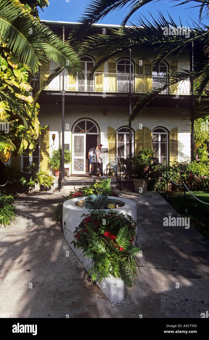 Home of Ernest Hemingway Key West Florida America Stock Photo