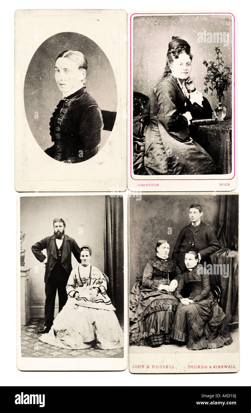 Victorian 1860s Carte de Visite CDV old vintage photograph collection - Stock Image