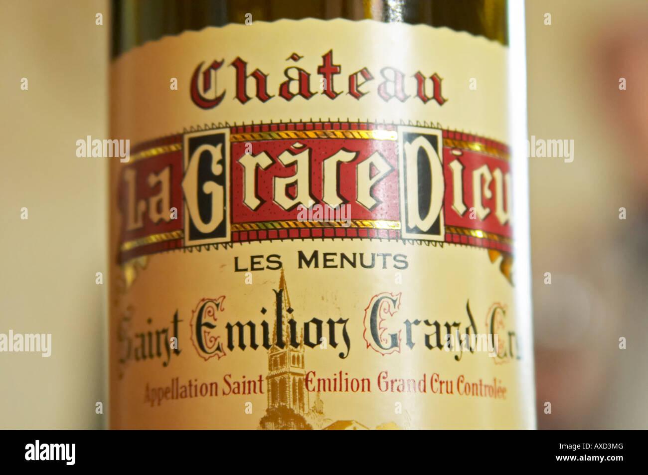Chateau la Grace Dieu les Menuts, Saint Emilion, Bordeaux, France - Stock Image