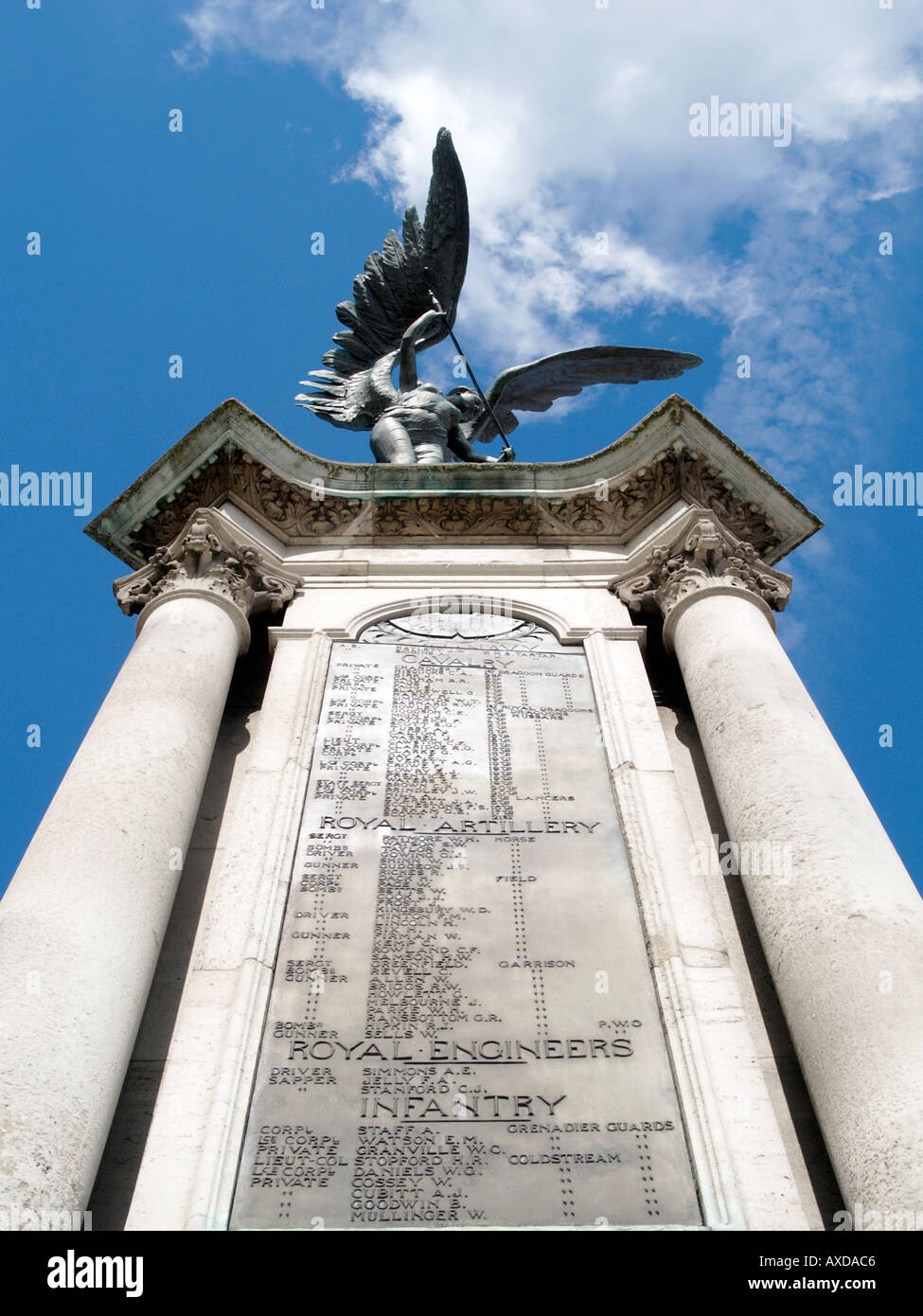 WAR MEMORIAL TO THE MEN OF NORFOLK AND NORWICH WHO GAVE THEIR LIVES IN THE BOER WAR 1899 1902 AGRICULTURAL HALL PLAIN NORWICH - Stock Image