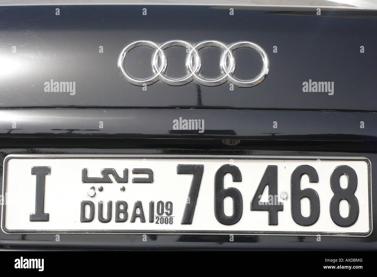 Dubai Licence Plate Stock Photo 16809759 Alamy