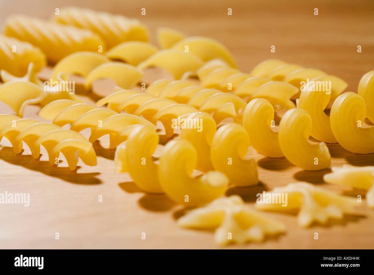 Variety of pastas, close-up - Stock Image