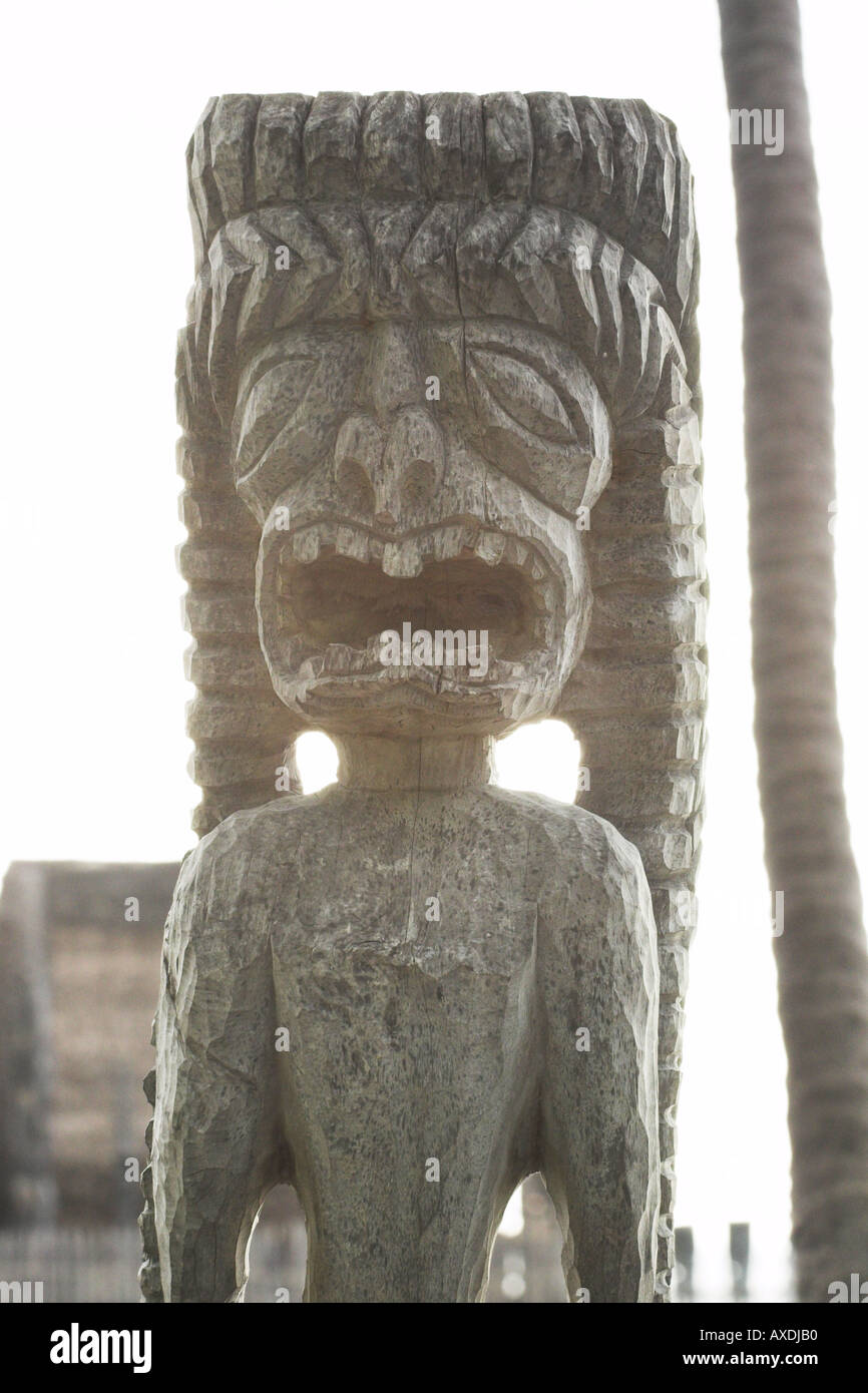 Crying Tiki - Stock Image