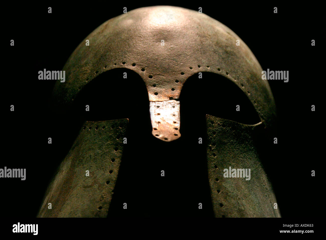 Medieval Warrior Helmet - Stock Image