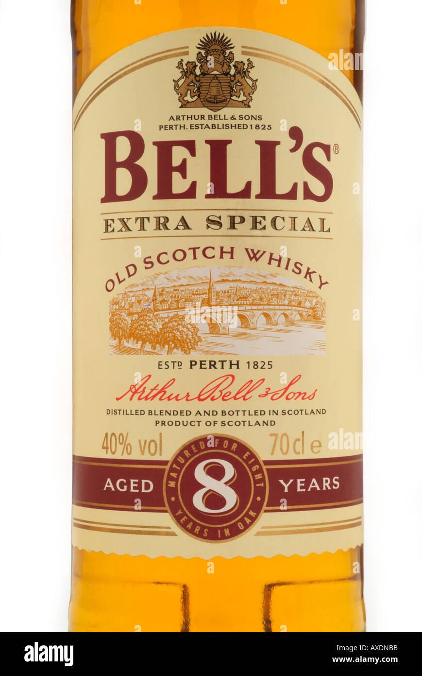 arthur bell's bell extra special old scotch malt whisky perth scotland oak caskoatmeal toffee taste afore ye go Stock Photo