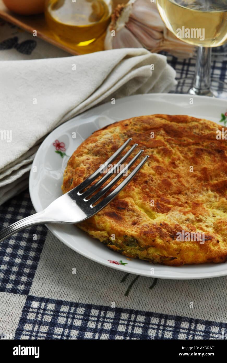 Frittata ( cooked in the Vitalba way ) Tuscan recipe - Italian kitchen - Stock Image