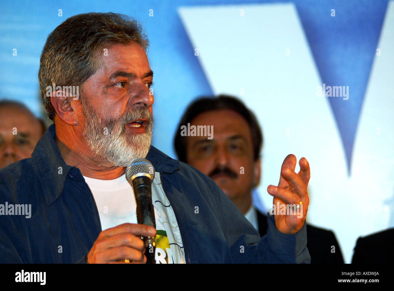 Luiz Inácio Lula da Silva during a press conference on the election day, Hotel Intercontinental, São Paulo, Brazil. Lula was - Stock Image