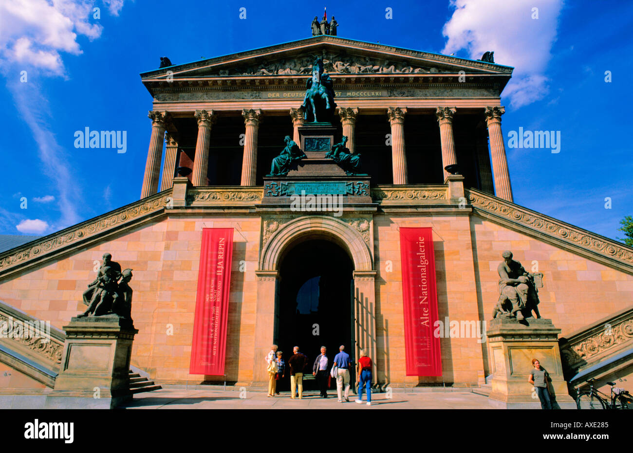 Old National Gallery Alte Nationalgalerie Berlin Germany Stock Photo