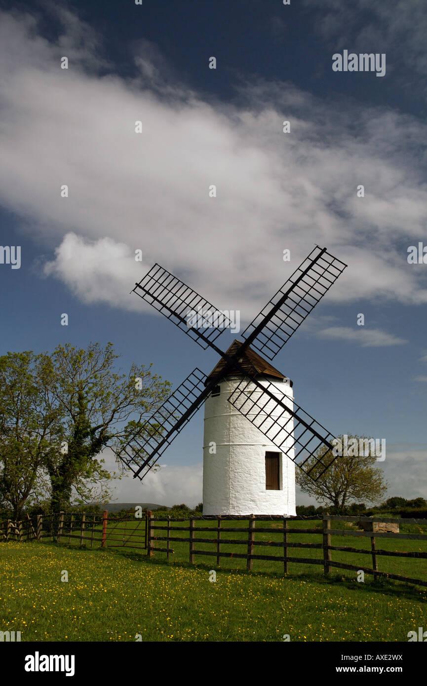 Ashton Windmill at Chapel Allerton, Somerset, England - Stock Image