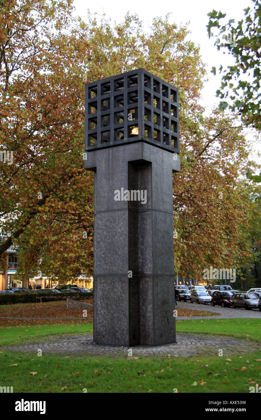 Memorial for the victims of Nazi tyranny on Platz der Opfer des Nationalsozialismus, Munich, Germany. - Stock Image
