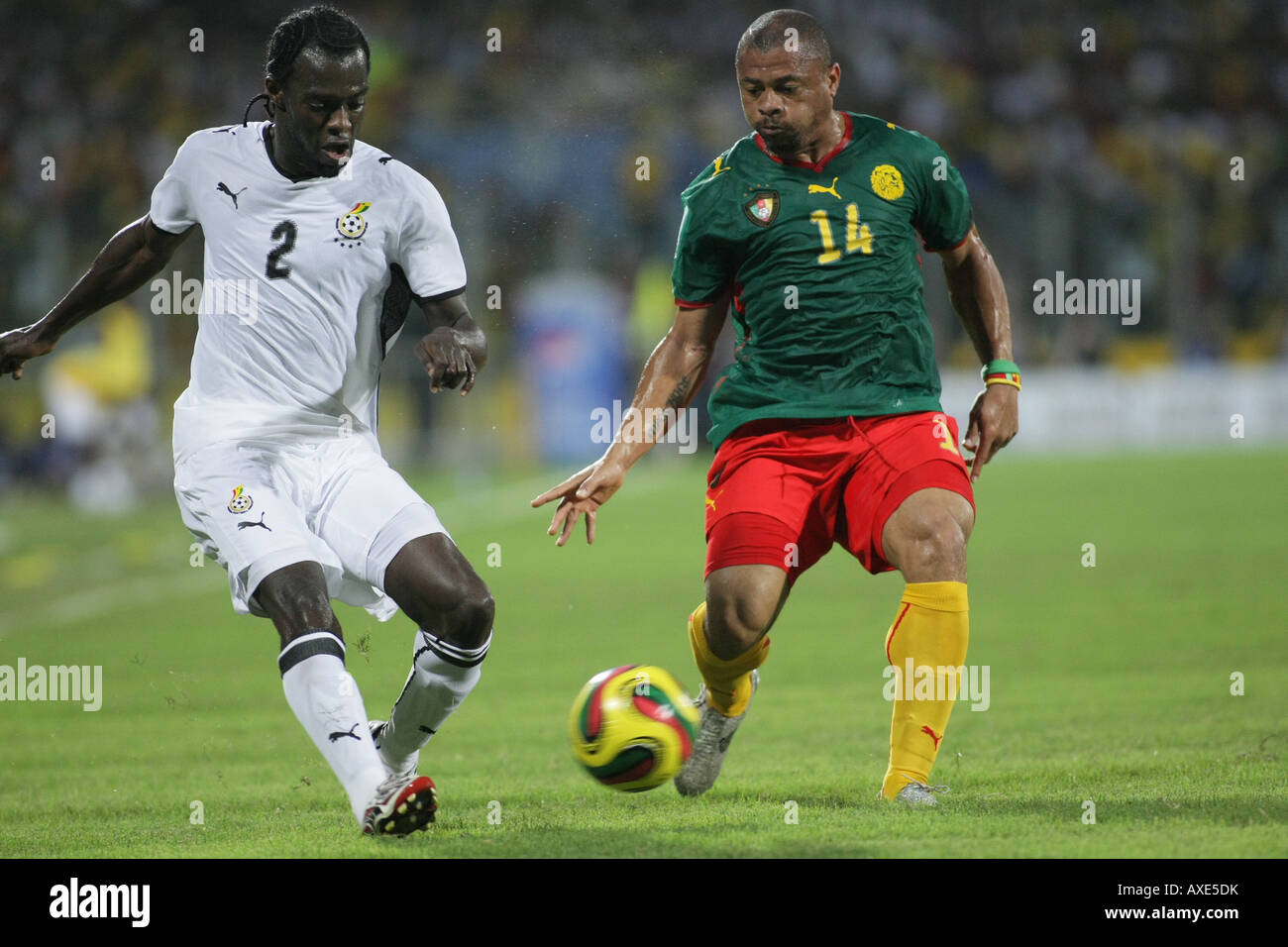 Ghana vs. Cameroon, Africa Cup of Nations 2008 - Stock Image