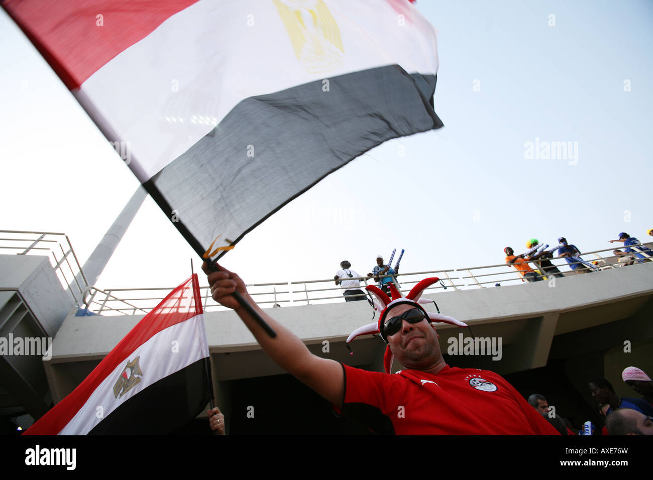 Egypt football fans, Africa Cup of Nations 2008 - Stock Image