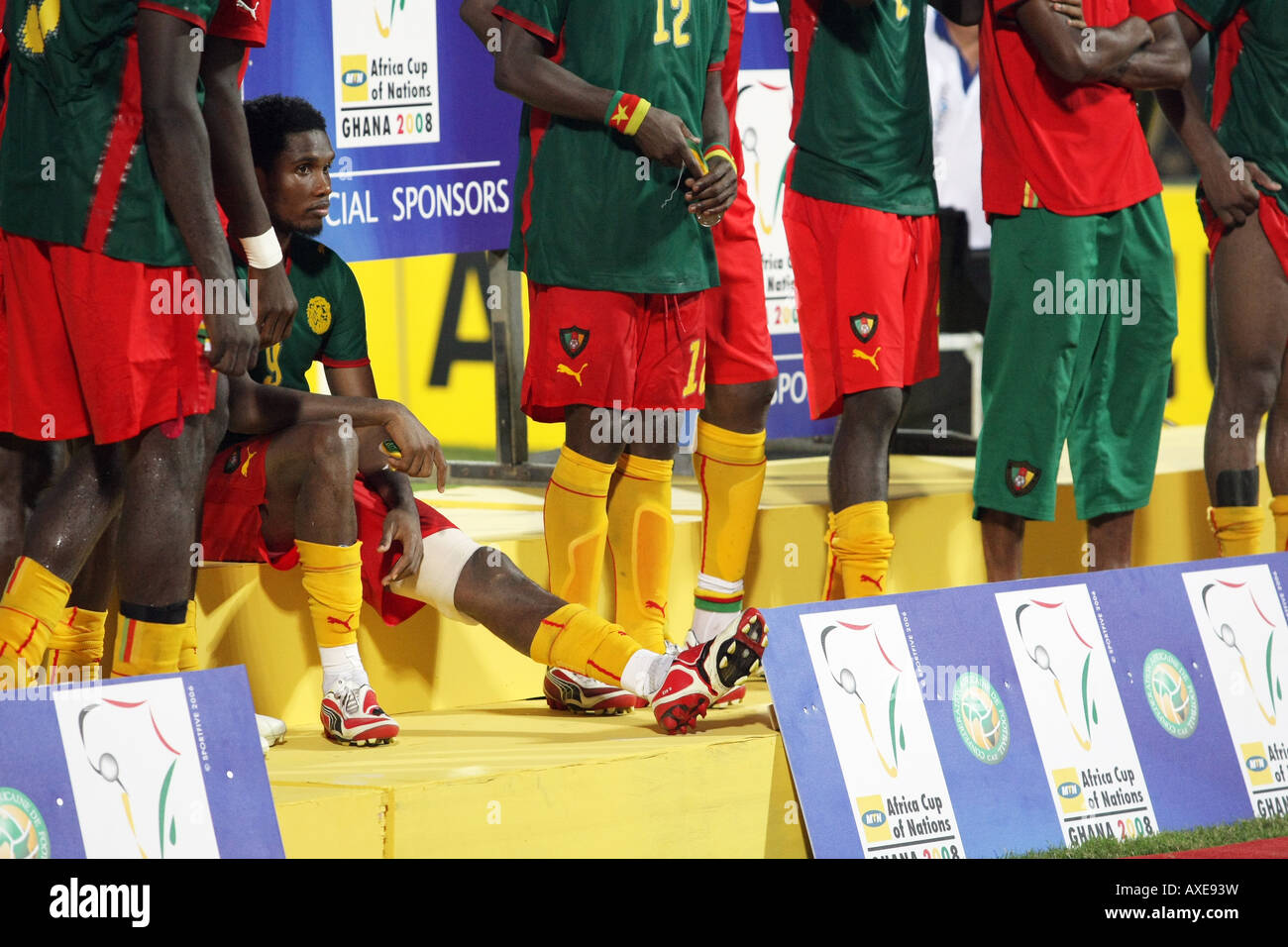 Cameroon defeat, Africa Cup of Nations 2008 - Stock Image