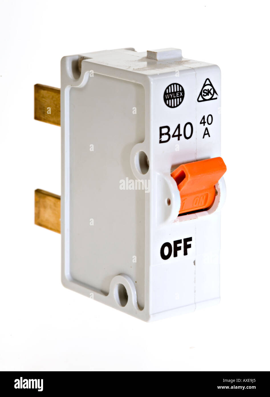 Circuit Breaker Cut Out Stock Images Pictures Alamy Fuse Box Replacement For In Fusebox On White Background Image