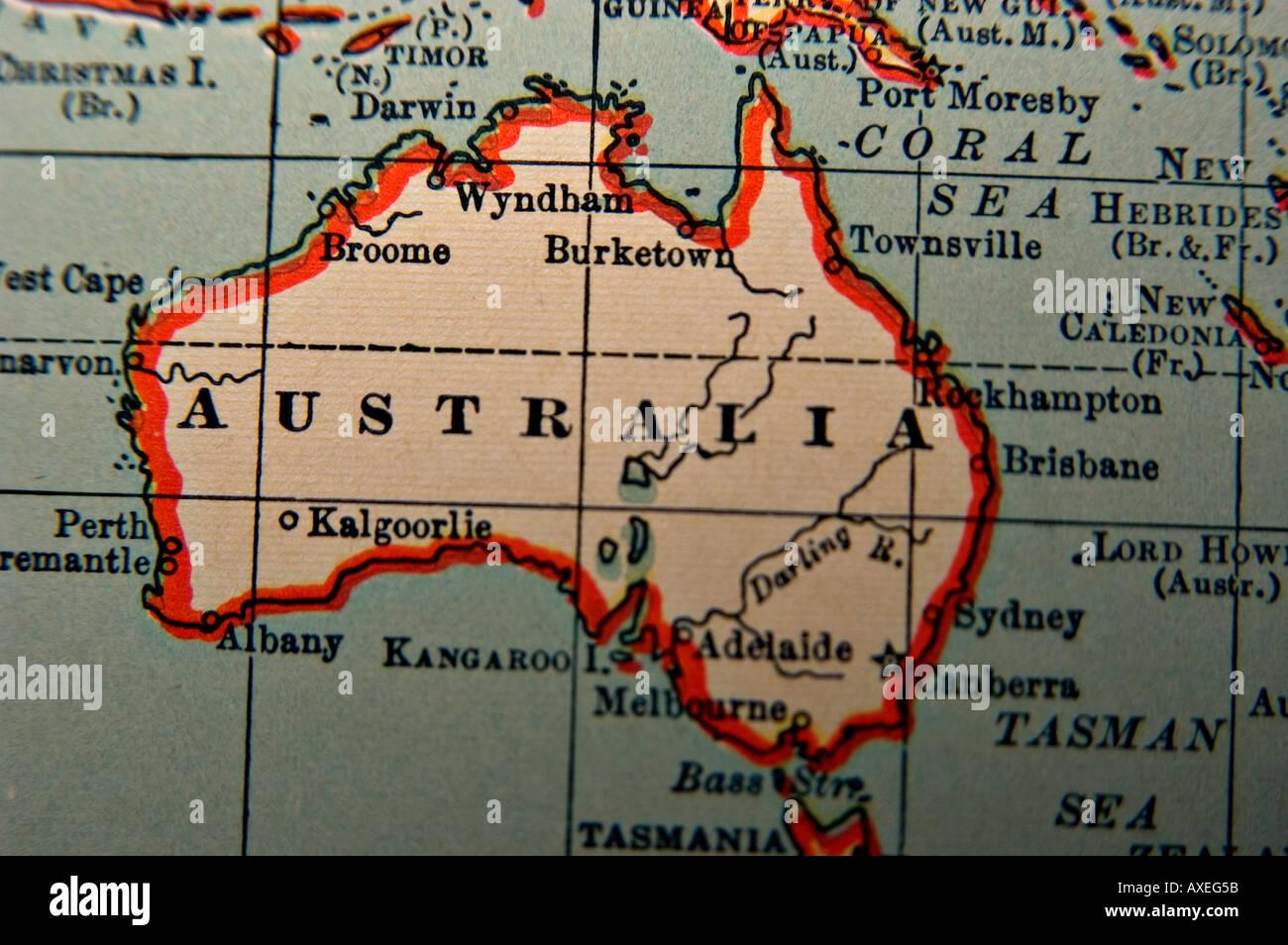 Antique Maps Stock Photos Antique Maps Stock Images Alamy - Antique maps for sale australia