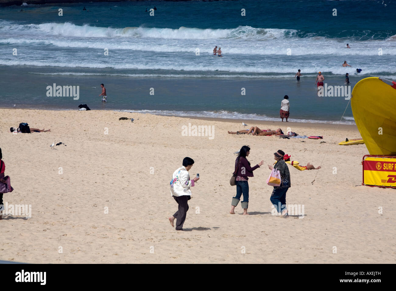 bondi beach,easter weekend 2008, sydney,australia - Stock Image
