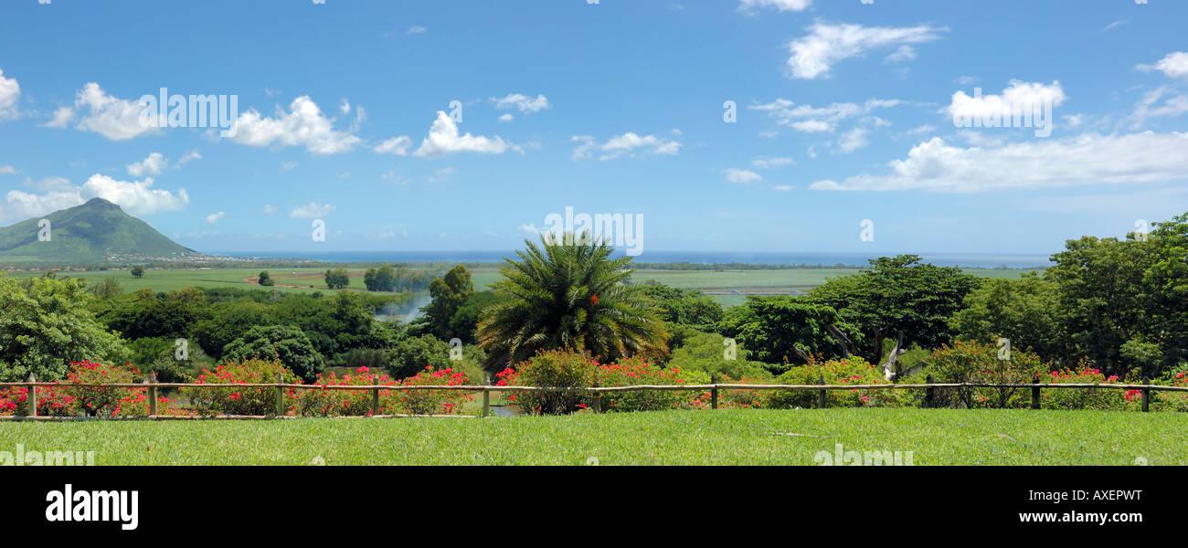 Mauritius Island Panoramic view of 'Casela Yemen Nature & Leisures Park' - Stock Image