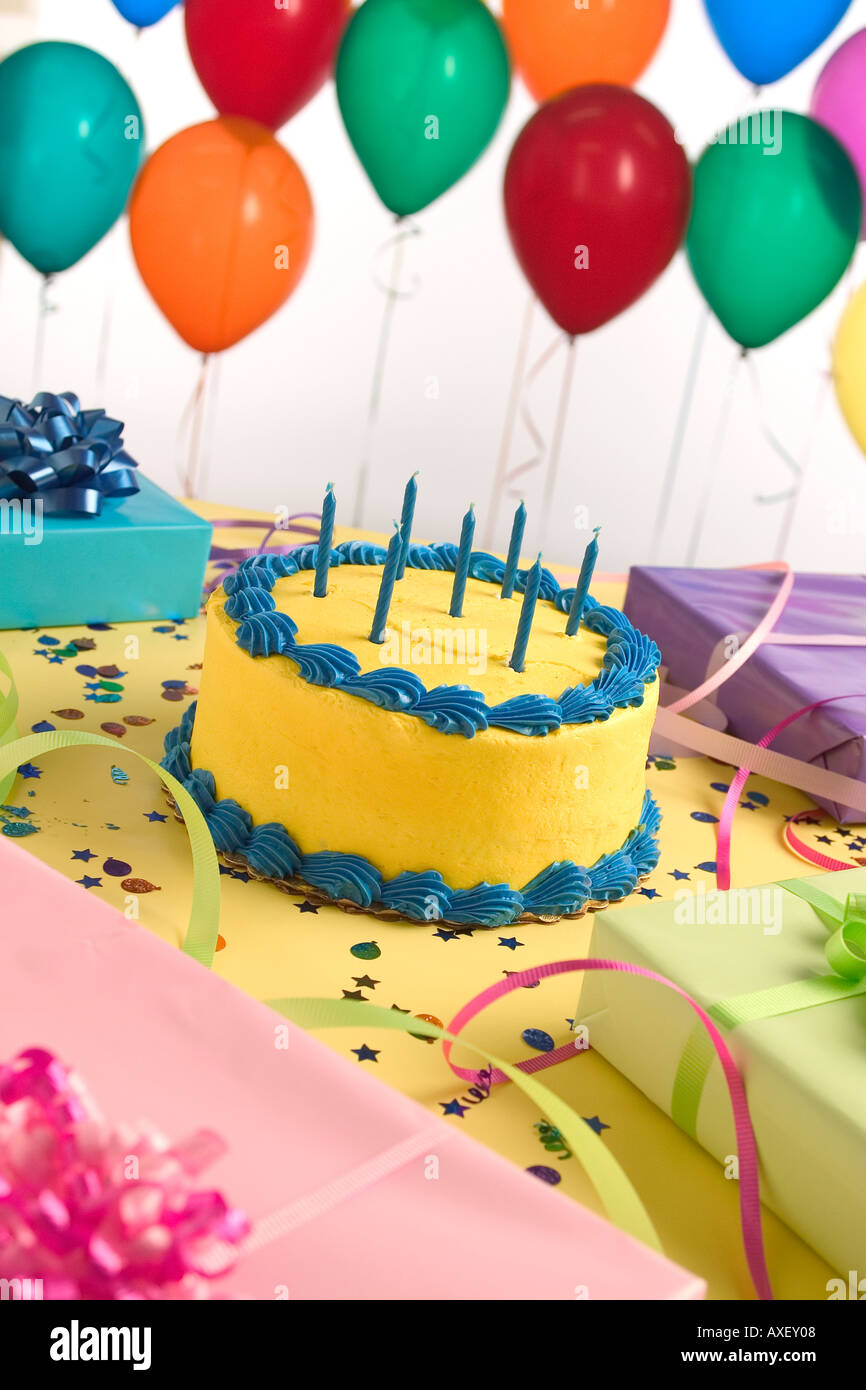 Surprising Cake Presents And Balloons Stock Photo 5493511 Alamy Funny Birthday Cards Online Sheoxdamsfinfo