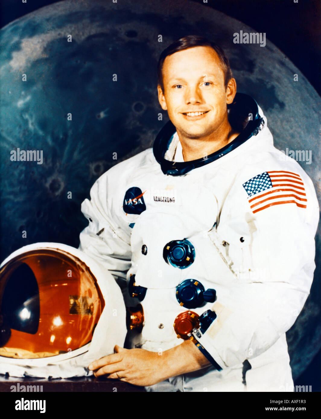 Neil Armstrong Astronaut Stock Photo