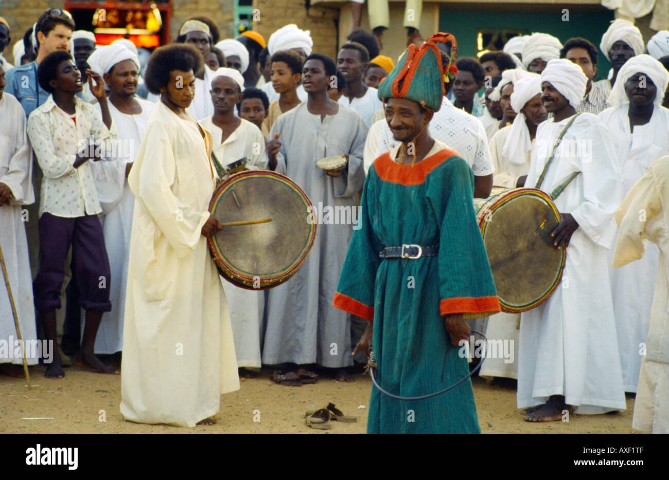 Omdurman Sudan Dervish Dancers Sufi Disabled Muslim Dancing - Stock Image