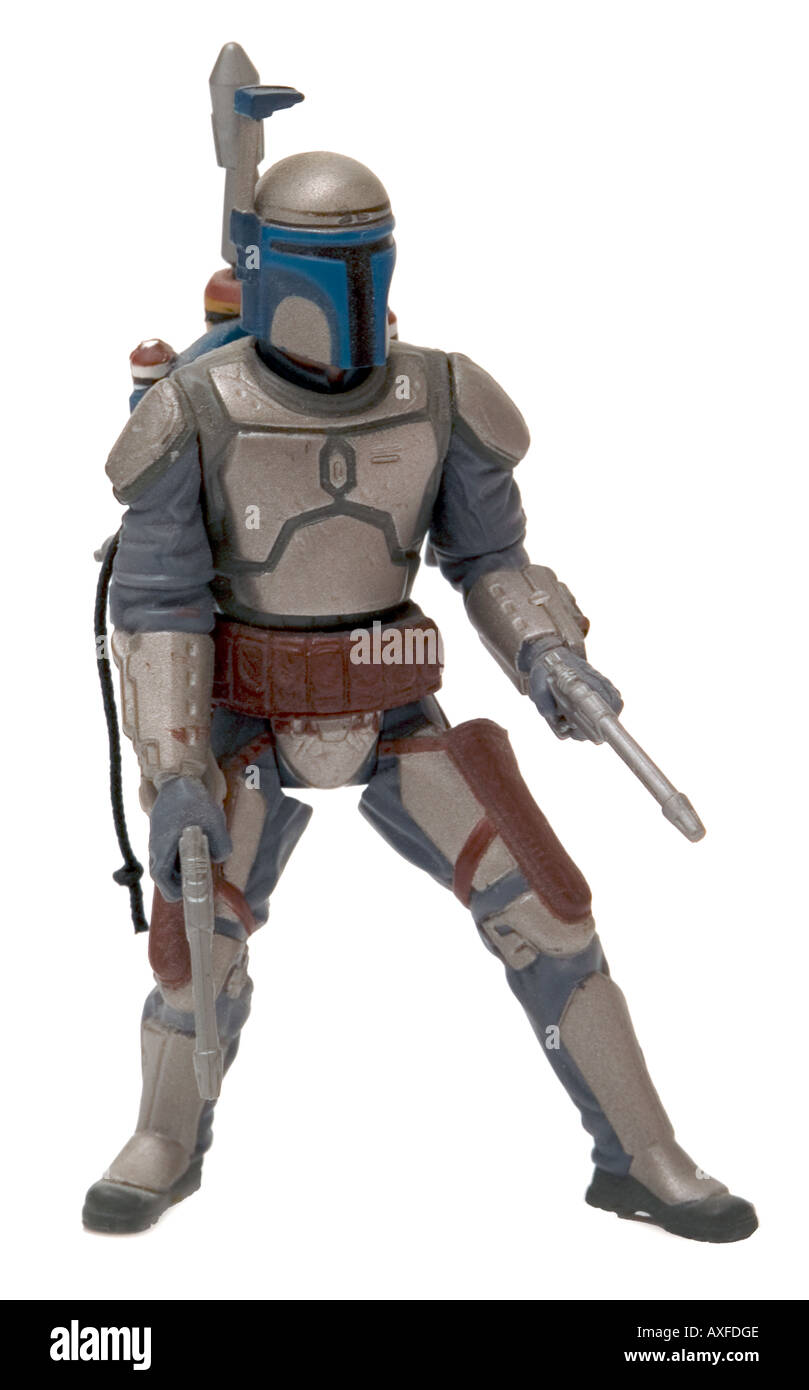 Jango Fett Star Wars Action Figure Toy On White Background Stock Photo Alamy