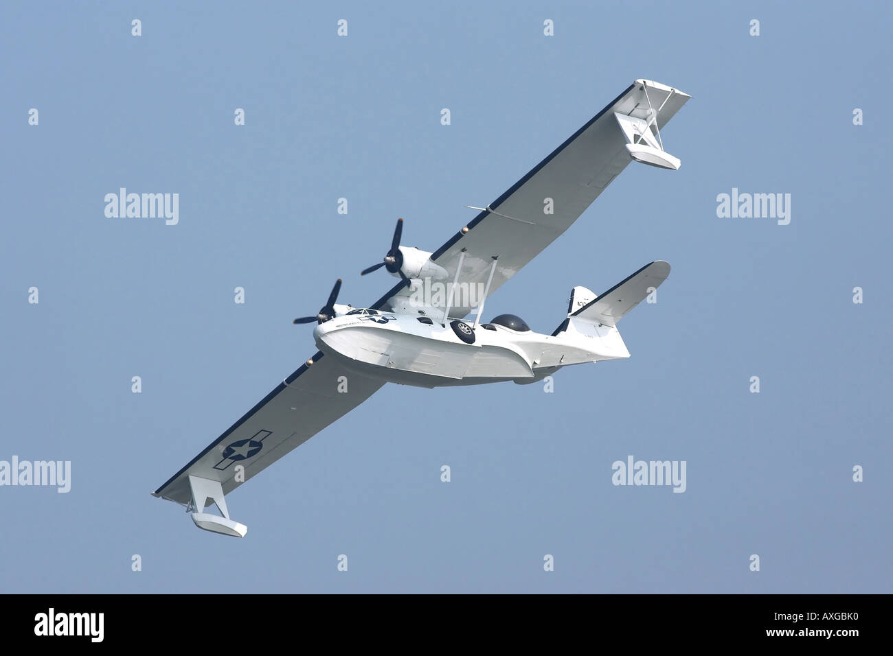 US Navy Consolidated PBY Catalina amphibious aircraft - Stock Image