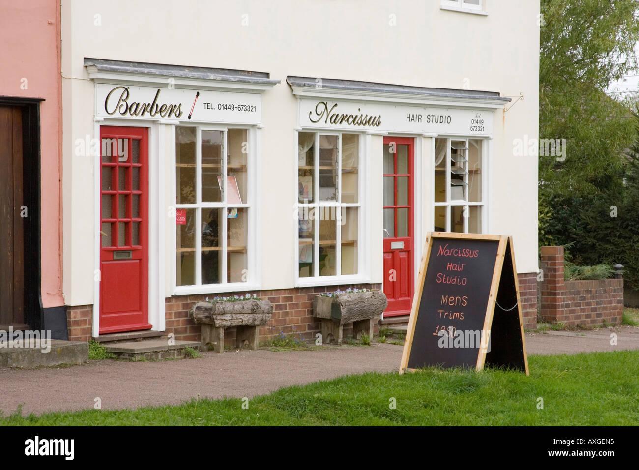 hairdresser salon in Haughley, Suffolk, UK - Stock Image