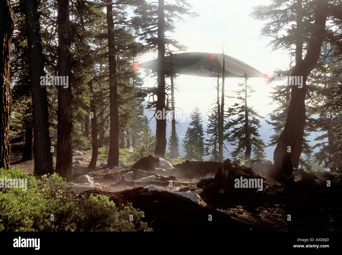 UFO sighting - Stock Image