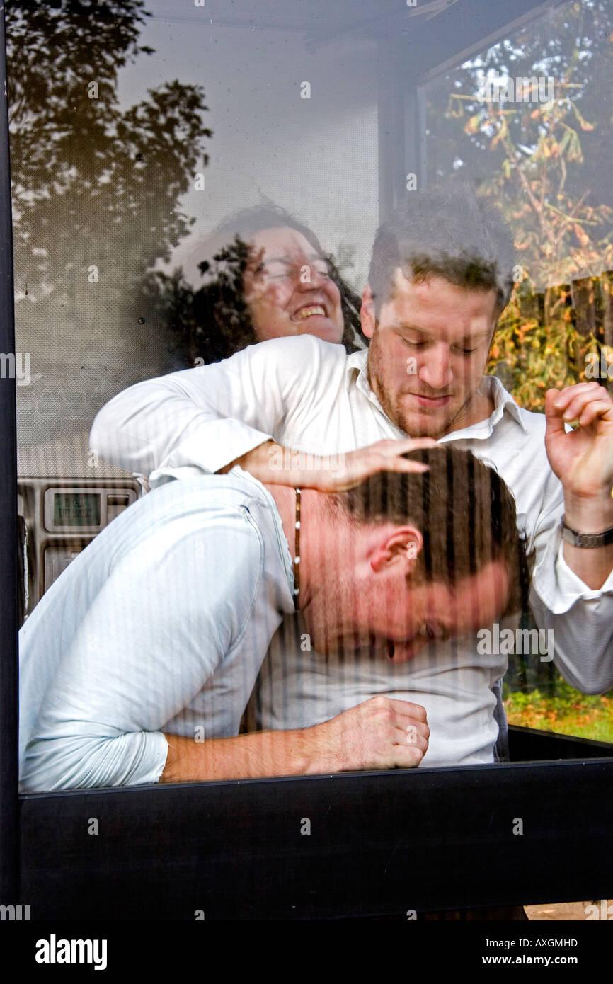 UK band Darwyn with Matt Cardle, Ali McMillan and Richard Grace - Stock Image