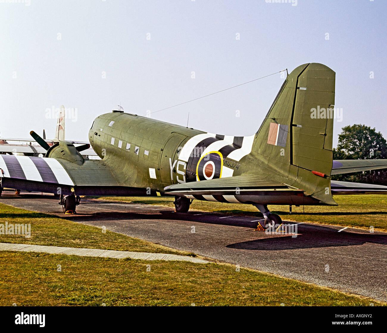 Douglas DC 3 Dakota Military Transport Aeroplane KG374 At