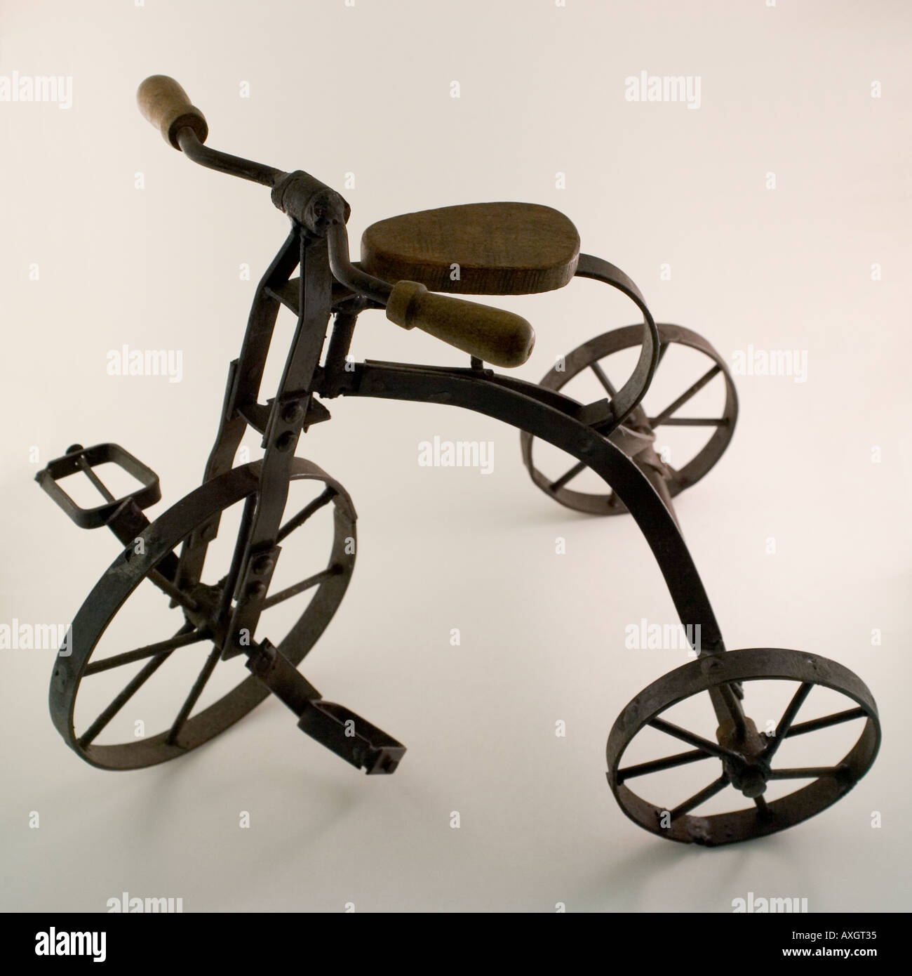 Vintage toy tricycle - Stock Image