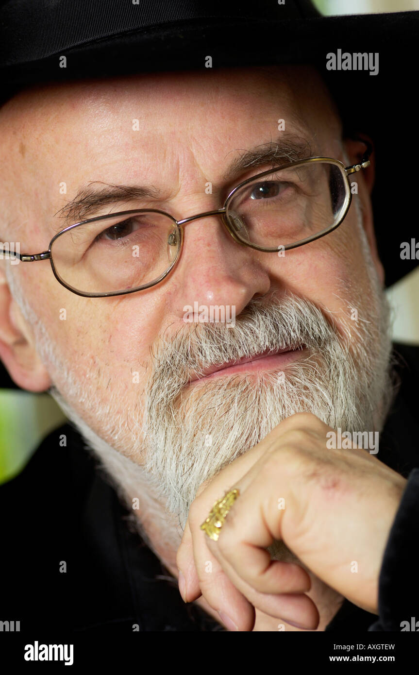Terry Pratchett (b1948),OBE book author novelist pictured at his home in Salisbury, Wiltshire. - Stock Image