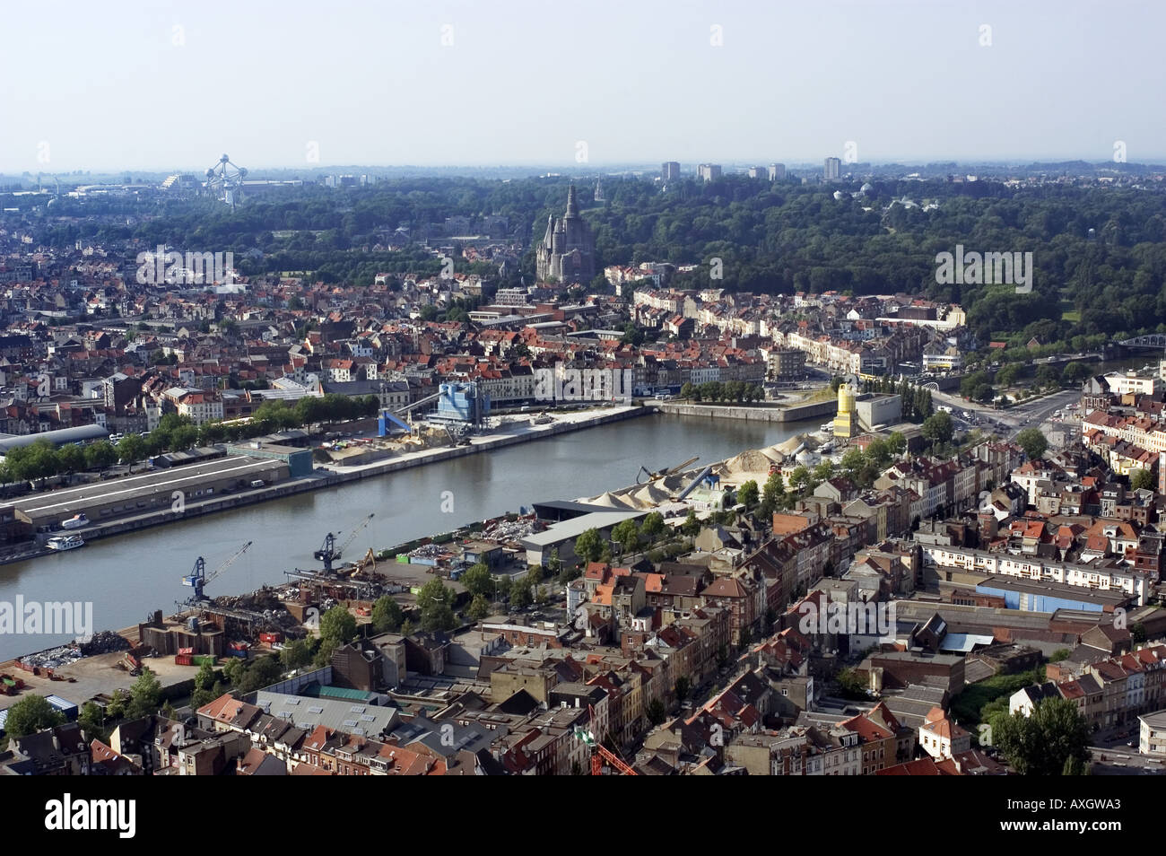 aerial view of Brussels Stock Photo