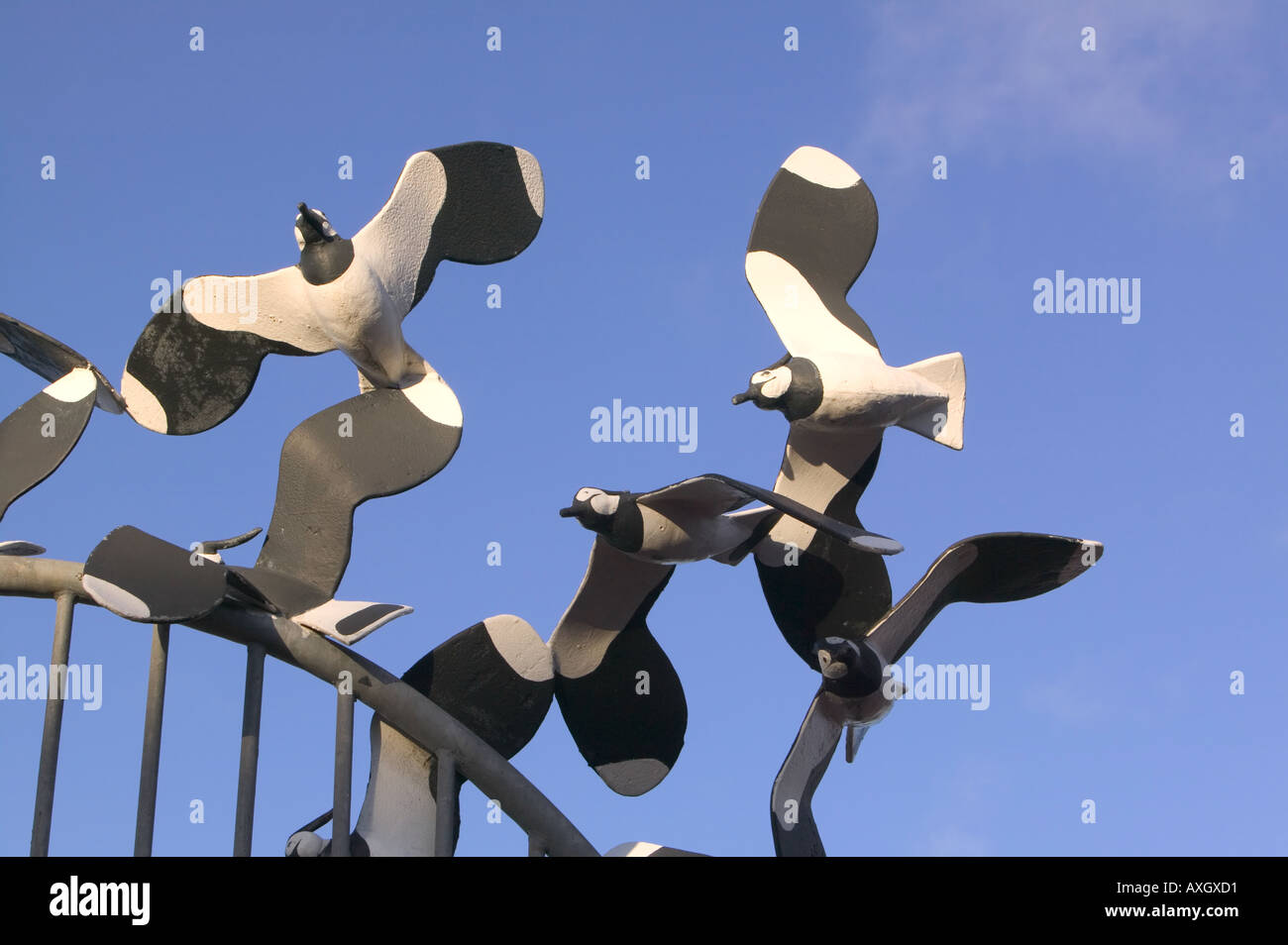 Lapwing Sculpture as part of the Tern project in Morecambe, Lancashire, UK - Stock Image