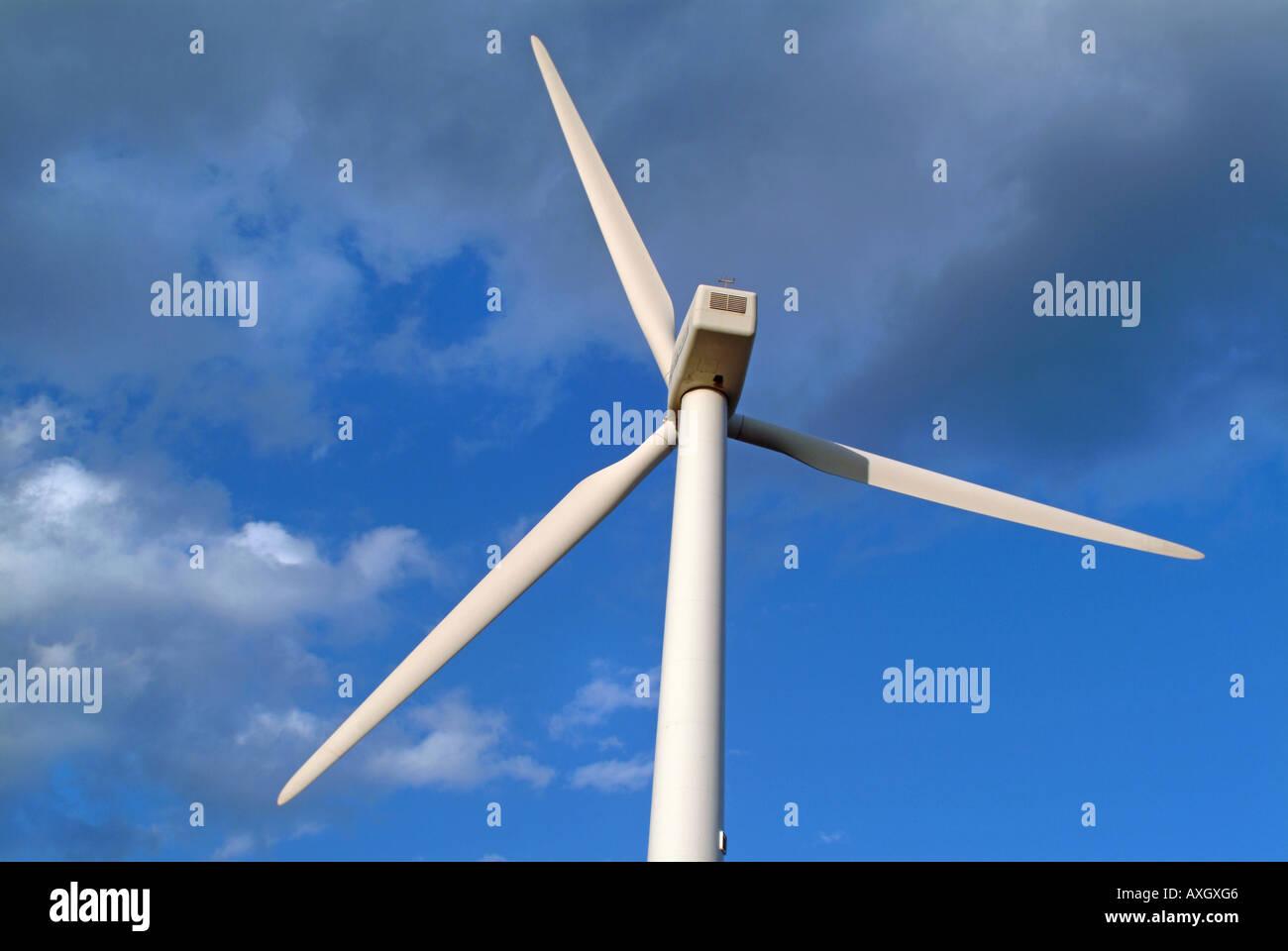 windmill on the canary islands Windkraftanlage auf teneriffa - Stock Image