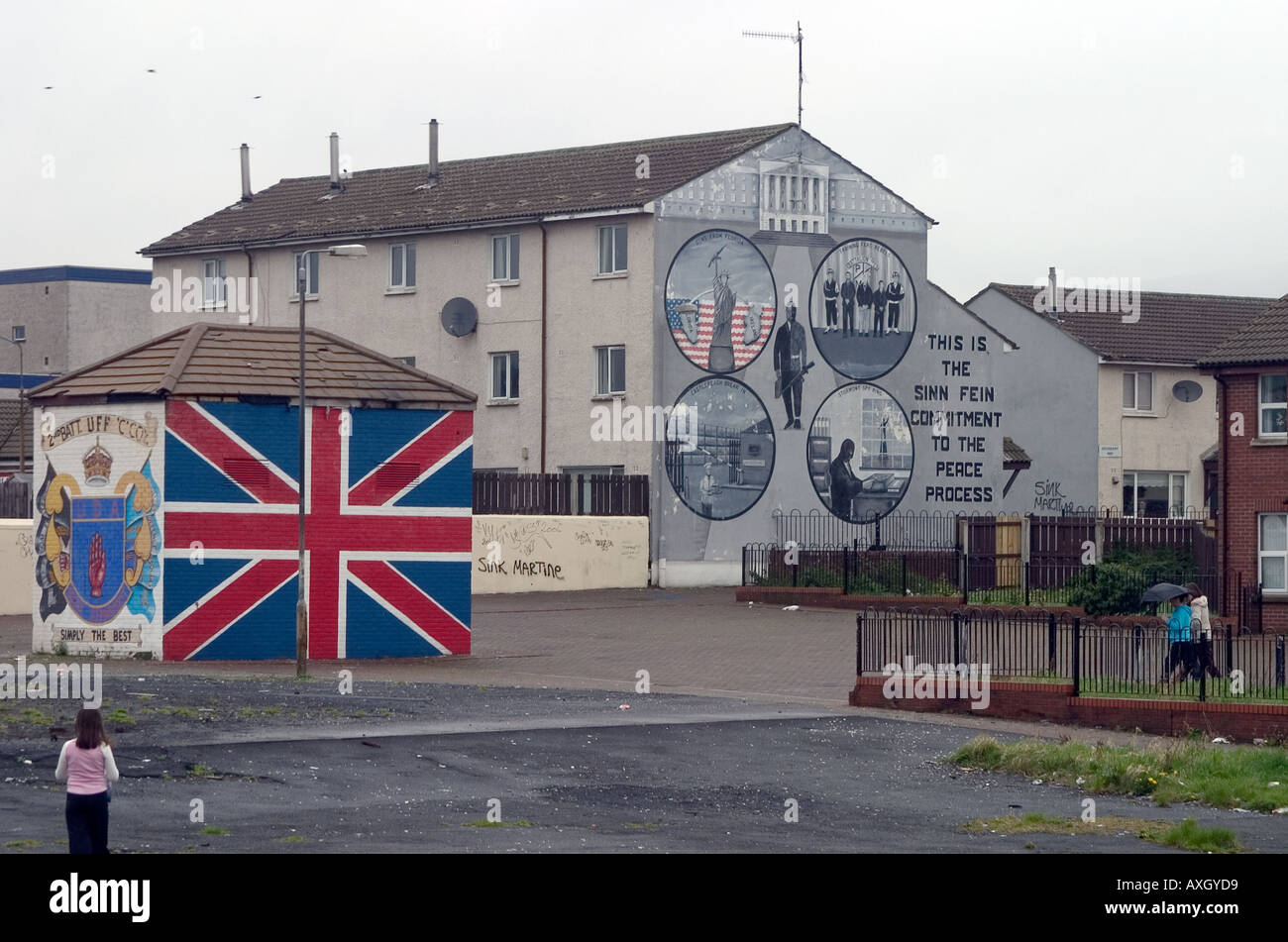 Murals in Belfast Northern Ireland - Stock Image