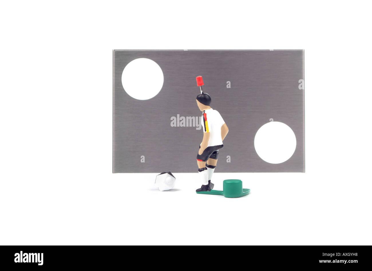 soccer game player Fußballspiel Spieler - Stock Image