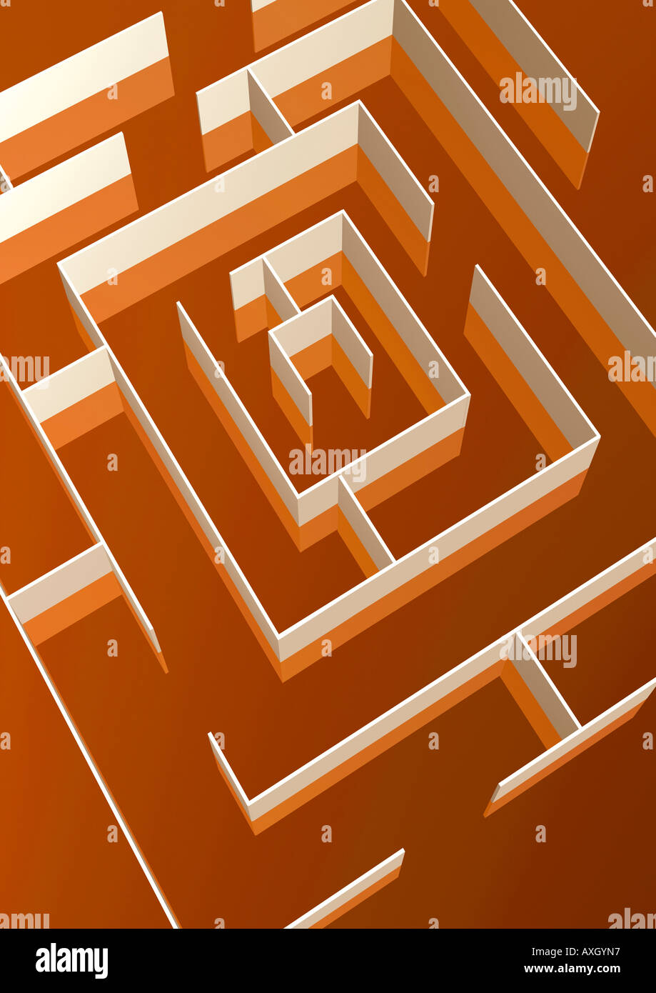 maze Labyrinth Stock Photo